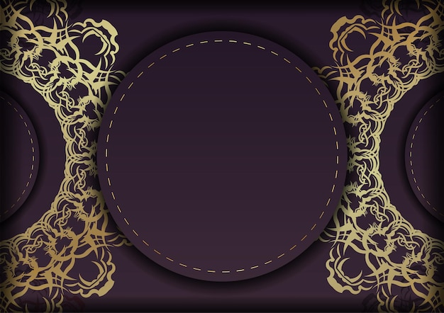ギリシャの金の装飾品が印刷できるようになったバーガンディ色のパンフレット。