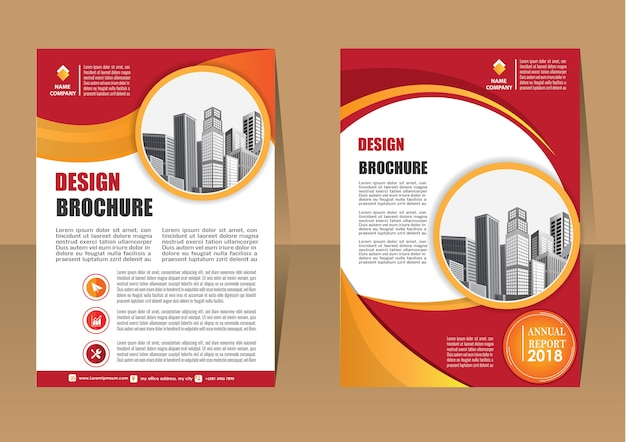 Brochure layout annual report poster flye