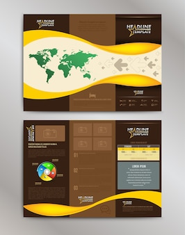 Brochure Layout Design Template.