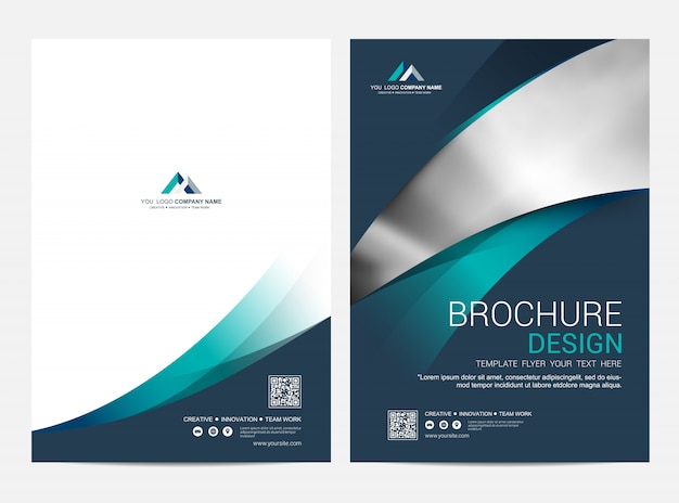 Brochure layout template, cover design