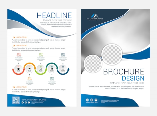 Brochure layout template, leaflet flyer cover design background