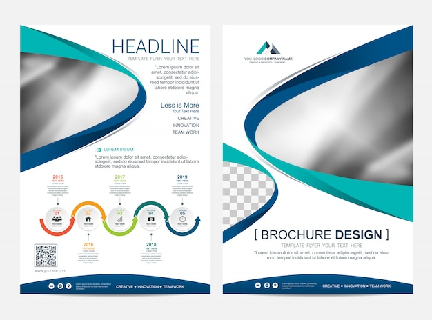 Brochure layout template, leaflet flyer cover design background