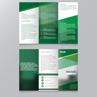 Brochure mock up design template for business, education, advertisement