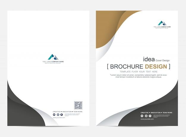 브로셔 또는 전단지 레이아웃 템플릿, 연례 보고서 표지 디자인 배경
