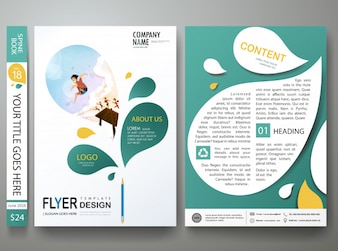 Brochure poster template vector layout.