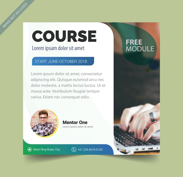 Brochure template for course