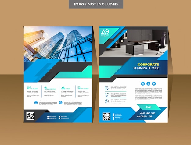 Brochure template cover design annual report magazine flyer or booklet