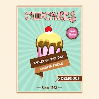 Brochure template of cupcake store