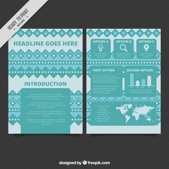 Modello di brochure in stile etnico