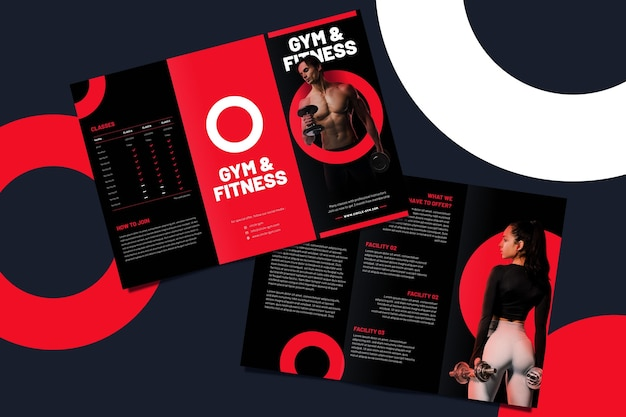 Brochure template for gym