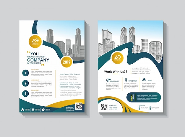 Brochure template layout cover design annual report