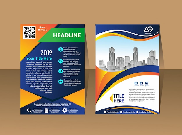 Brochure template layout cover design