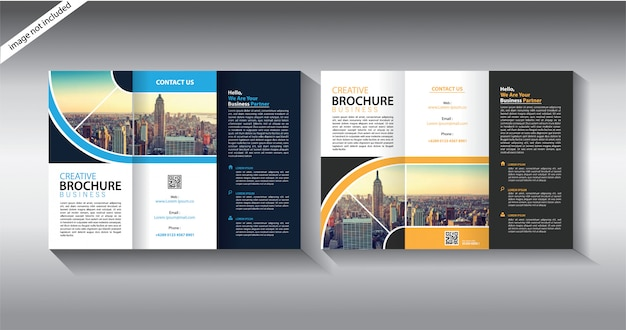 Brochure template for layout leaflet