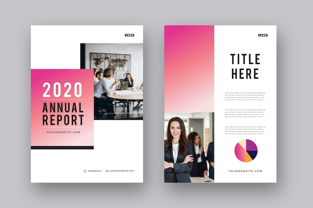 Brochure template layout presentation