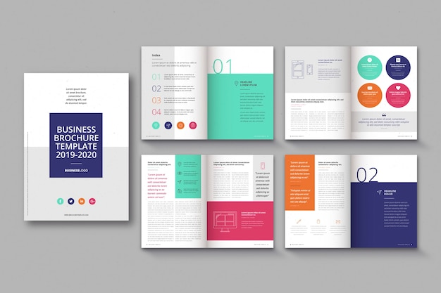 Brochure template layout