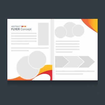 Brochure template of modern details