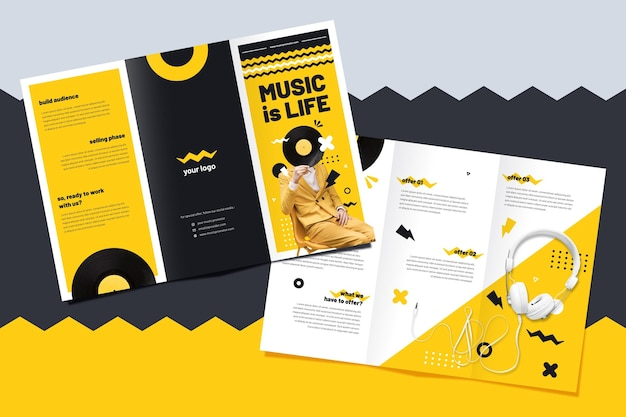 Brochure template for music