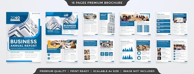 Brochure template premium vector