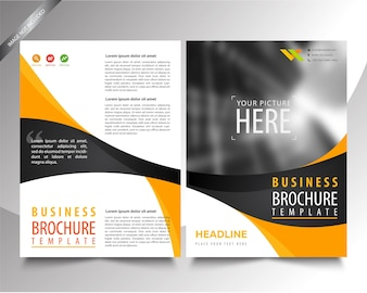Brochure Template shape layer background, profesional business flyer template