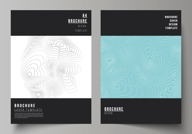 Brochure template with abstract monochrome shapes