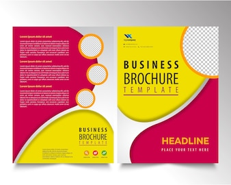 Brochure Template with circle
