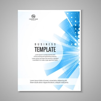 Brochure blu business