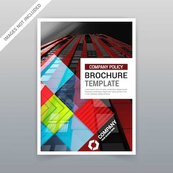 Brochure template with colorful design vector