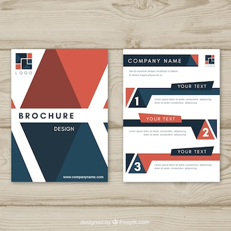 Page number vectors photos and psd files free download brochure template with elegant geometry publicscrutiny Gallery