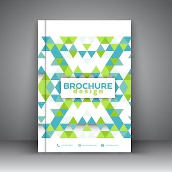 Шаблон брошюры с низким дизайном поли