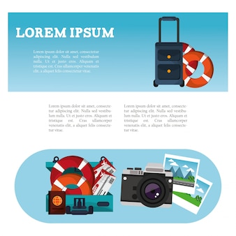 Brochure travel tourism vacation