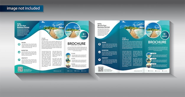 Brochure trifold for promotion template