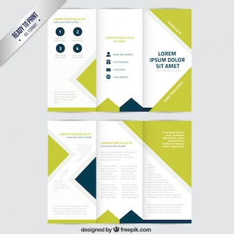 Brochure in trifold style