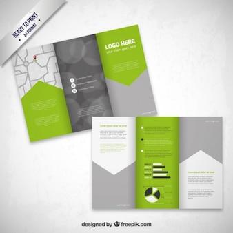 Brochure with arrow design