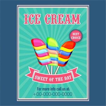 Брошюра с красочными мороженого