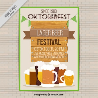 Brochure with different types of beers