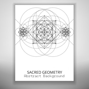 Brochure with geometric shapes