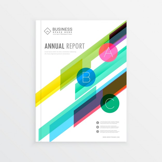Brochure with modern colorful shapes
