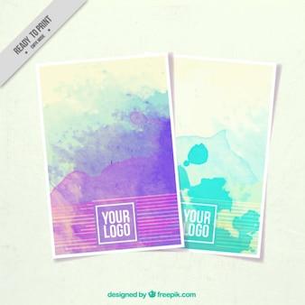 Brochure con macchie di vernice per la corporate identity