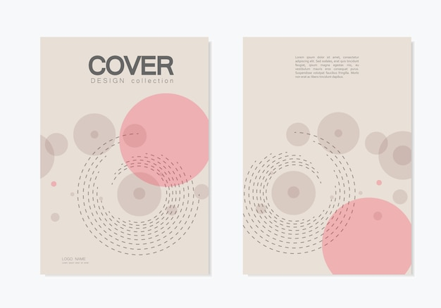Brochures business cover  with abstract twirl circle