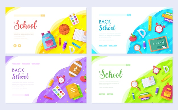 Брошюры для обучения и тренингов в модном стиле. приглашения в школу для печати.