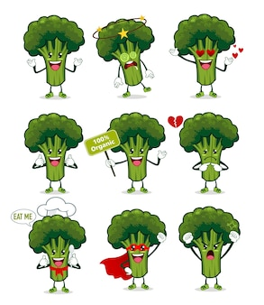 Мультфильм талисман броколи