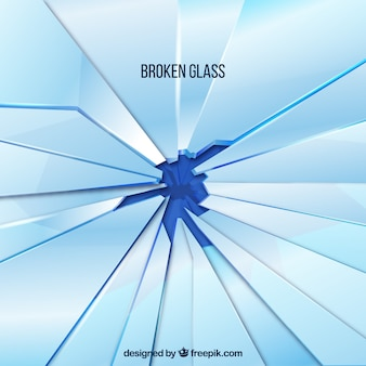 Broken glass background in realistic style