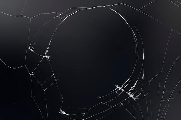 Vettore di sfondo di vetro rotto su nero