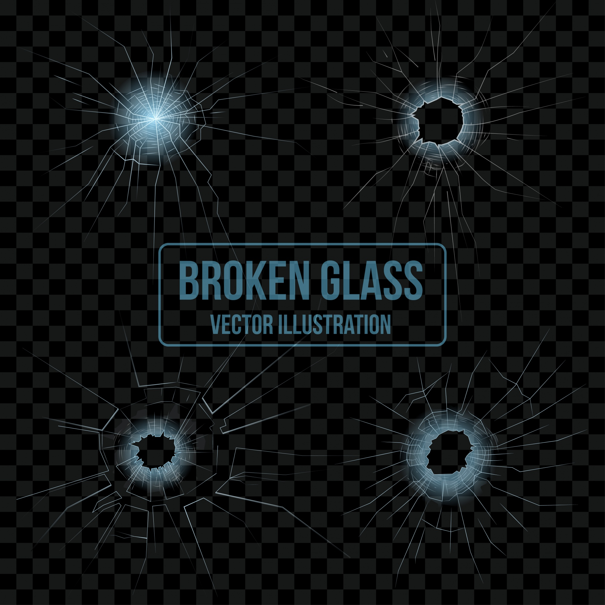 Broken glass set