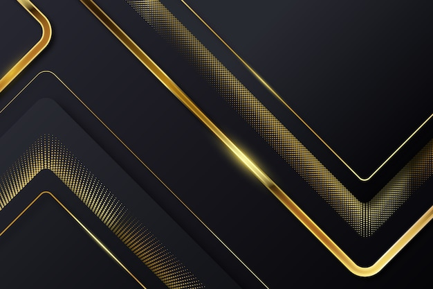 Broken golden lines on dark background