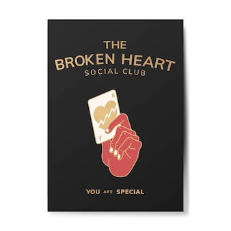 Broken heart social club illustration