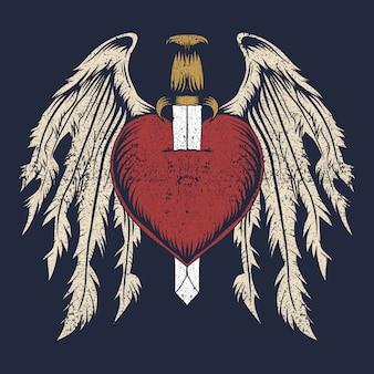 Broken heart wing