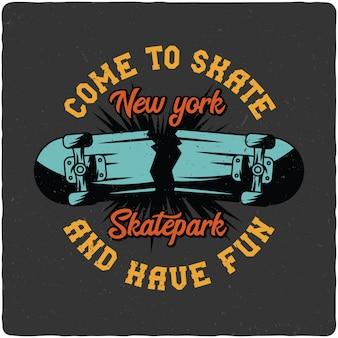 壊れたスケートボード