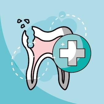 壊れた歯の歯科医療