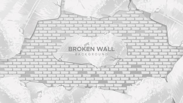 Broken wall background